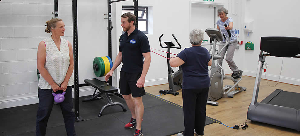 Friendly and relaxing Health and Rehab Gym for all ages and levels of ability